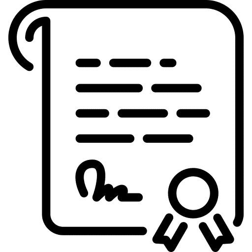 Intellectual property certificate of patent grant