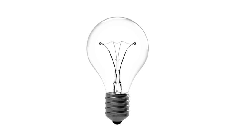 Unlit lightbulb